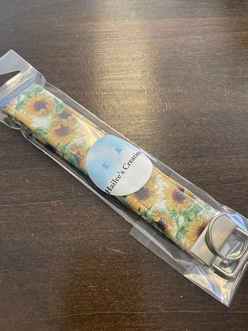 Key Chain Wristlet - Sunflower