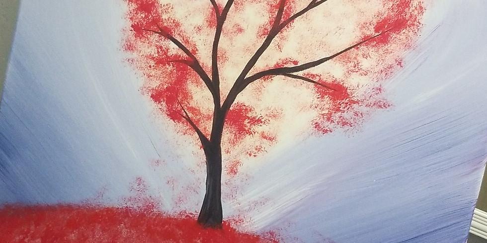 Valentine Canvas Paint $35