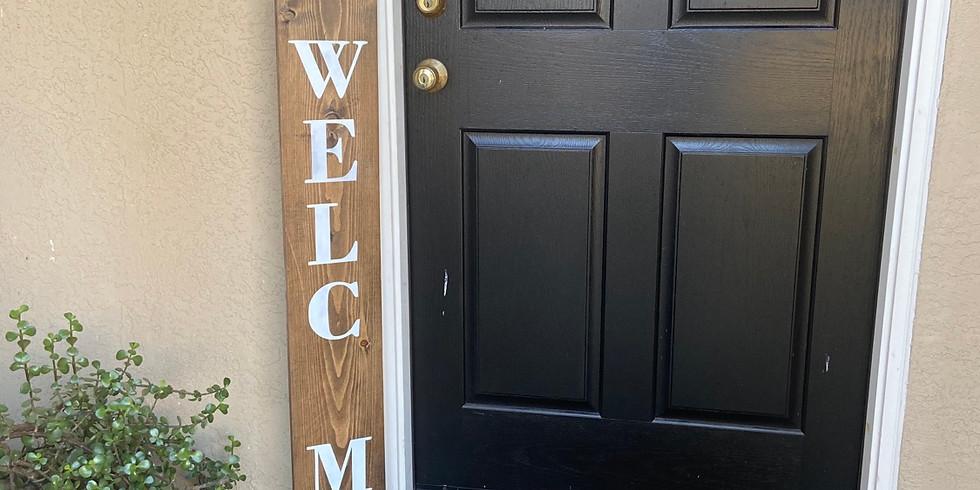 Seasonal Welcome Door Sign