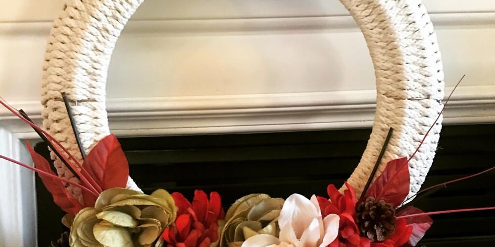 woven wreath $45