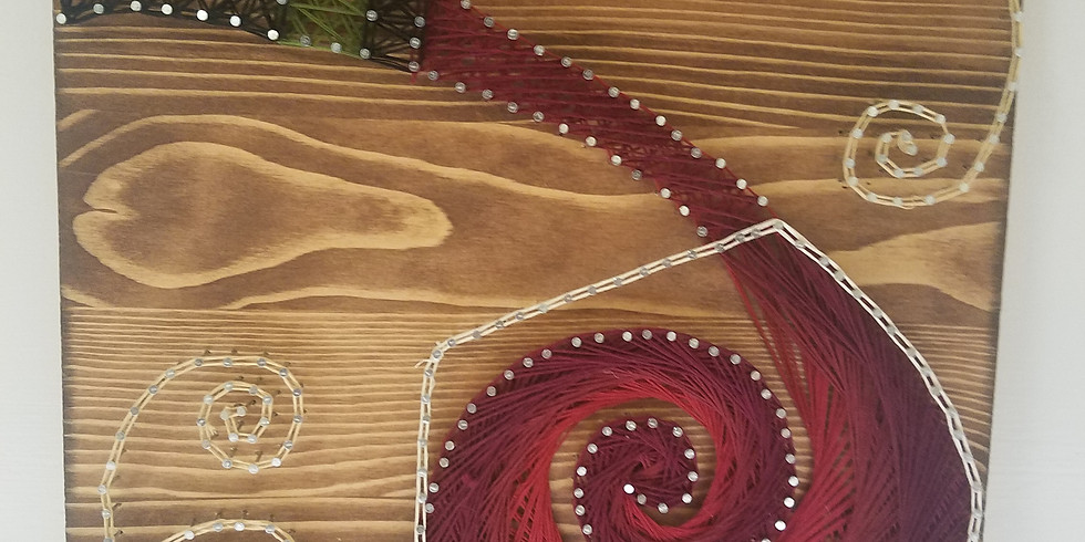 Wine Glass String Art $55