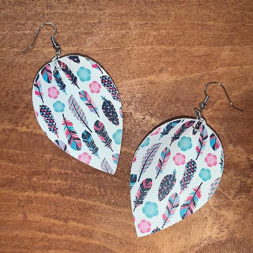 Leaf Faux Leather Earrings