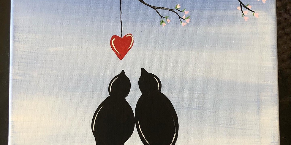 Birds on a Wire Canvas Paint