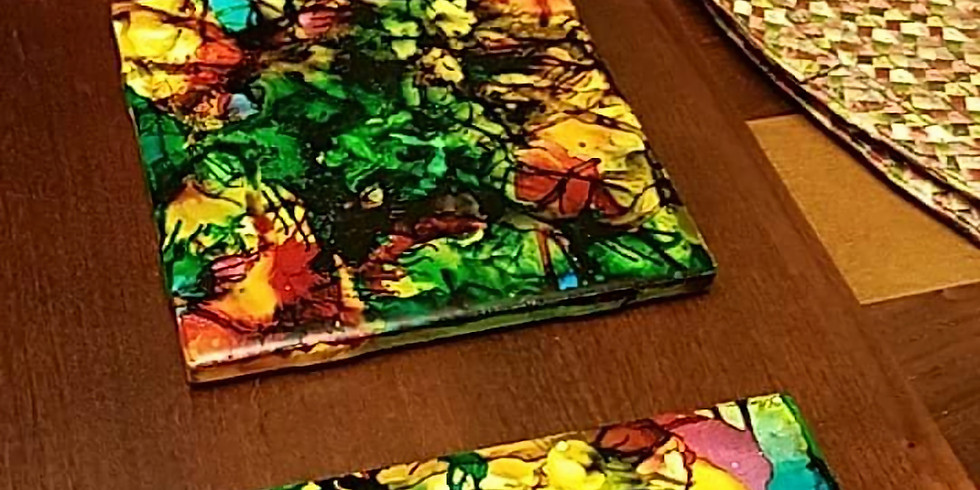 Alcohol Ink Coasters (set of 4)