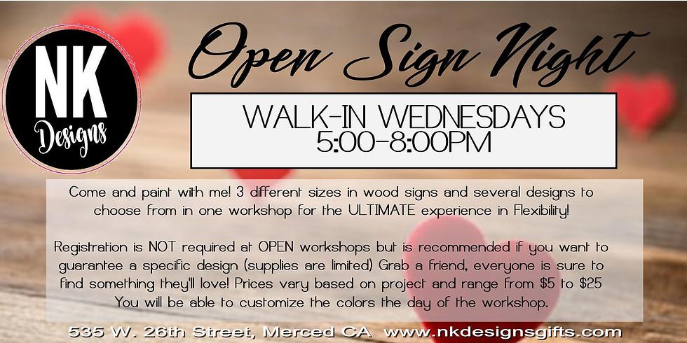 Open Sign Workshop
