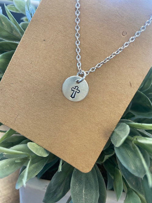 Stamped Charm Necklace