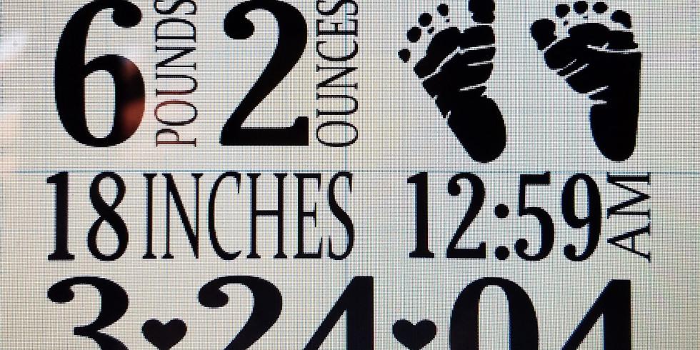 Birth Announcement Sign