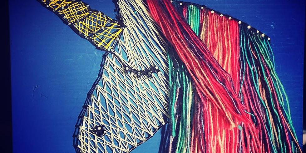 Unicorn String Art $25