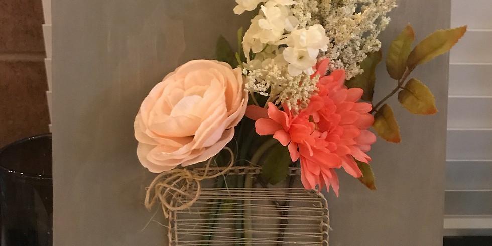 String Art Flower Vase $35