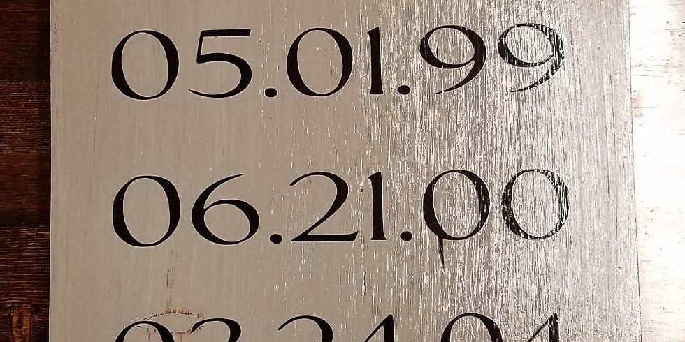 Memory Date Sign
