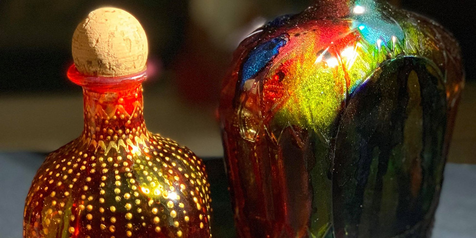 Stained Glass Bottle Art