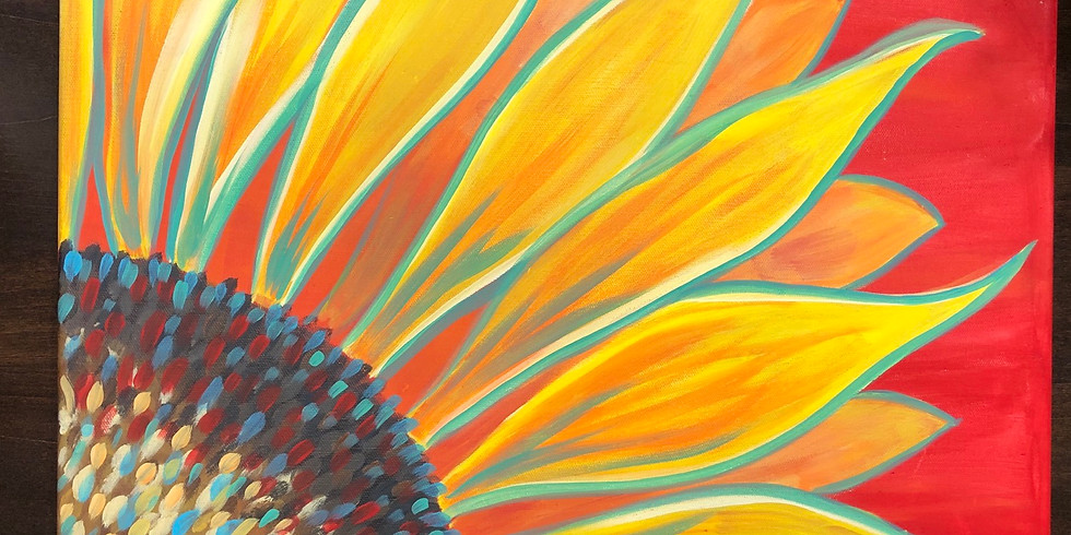 Sunflower Canvas Paint