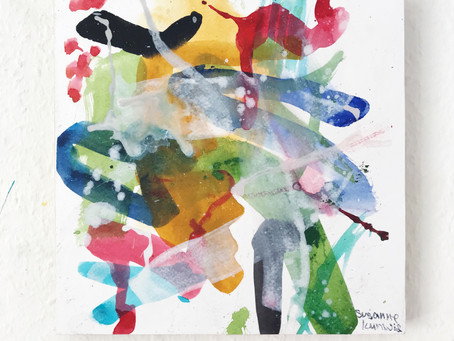 Abstrakte Malerei mit Aquarellfarben