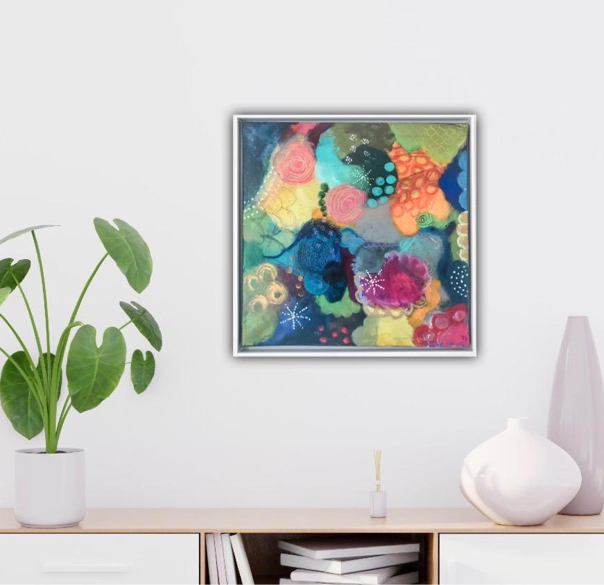 Ein Blumenkorb mit guten Wünschen
