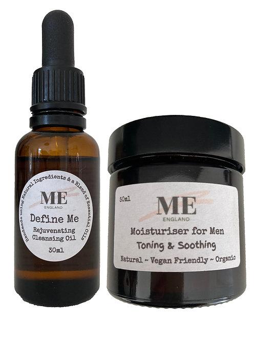 Define Me Rejuvenating Cleansing Oil & Daily Moisturiser for Men