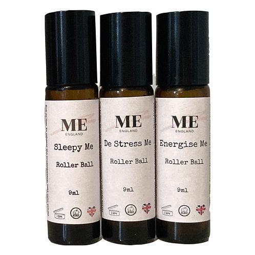 De Stress Me - Sleepy Me - Energise Me - Aromatherapy  Roller Ball Trio