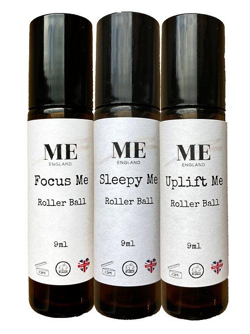 Focus Me -Uplift Me -Sleepy Me Aromatherapy  Roller Ball Trio Gift Set