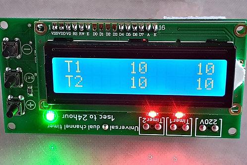 DSL8202 Двух канальный таймер от 1сек до 24 час