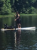 First time paddleboarding, nailed it!