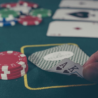 Cards and Chips of Poker