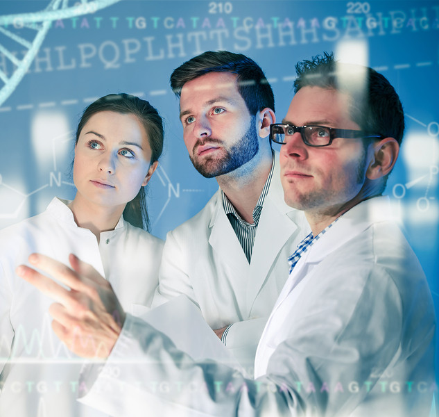Group of Geneticists Working