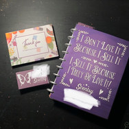 Bobbi's Custom Planner, Thank you Cards and Business Card Set.