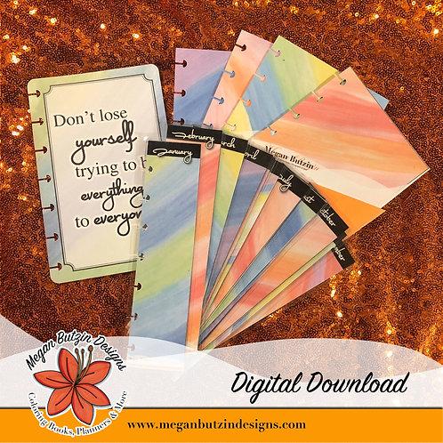 Watercolors Digital Set