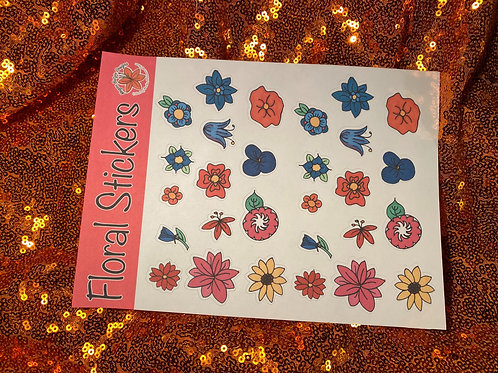 Floral sticker sheet