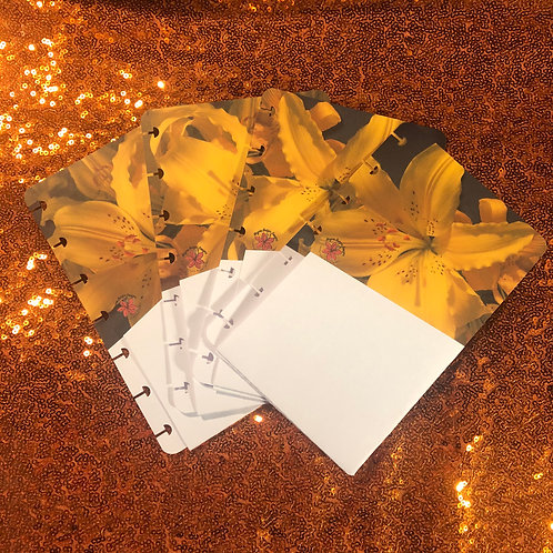 Yellow Lily Mini & classic size Planner Pocket