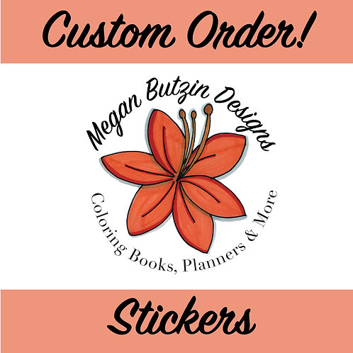 Custom Sticker Label Sheet