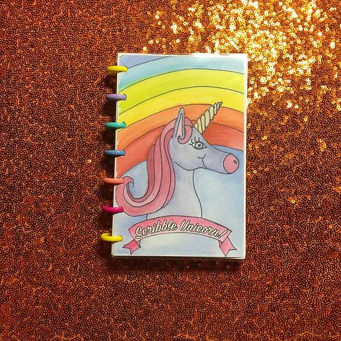 Unicorn Scribbles sketchbook
