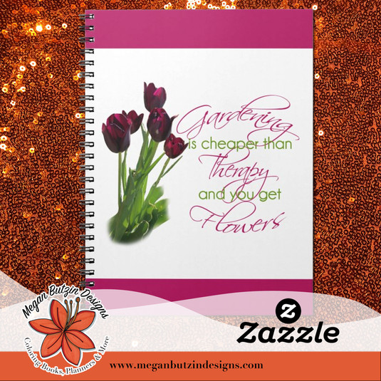 Zazzle_GardeningCheaper_SpiralNotebook.j