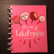Cake Poppin Custom Order Up Planner