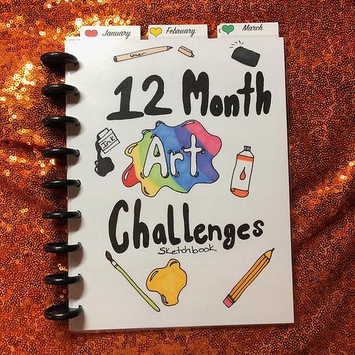12 Month Art Challenge Sketchbook