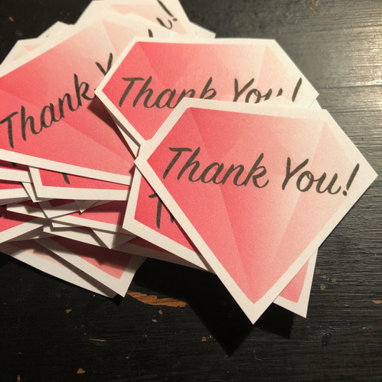 Custom Thank You Stickers