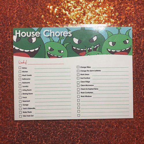Magnetic Dry Erase Chore Chart