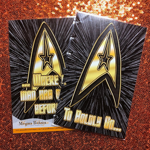 To Boldly Go... Planner Cover