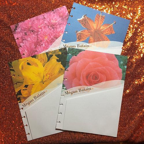 Mini & classic size Planner Pocket Folders (set of 4 floral)