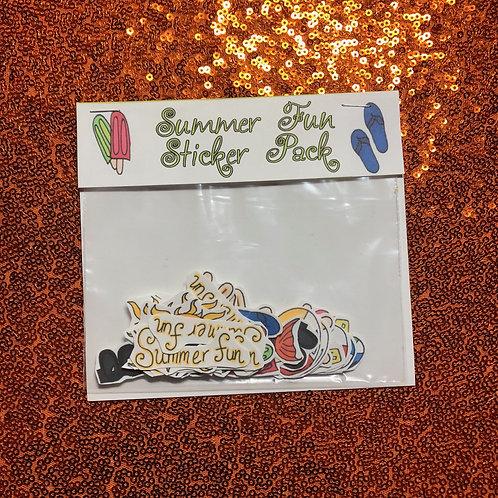 Summer fun sticker pack