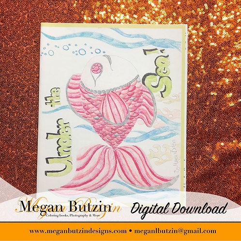 Under the Sea Coloring Book Digital Download