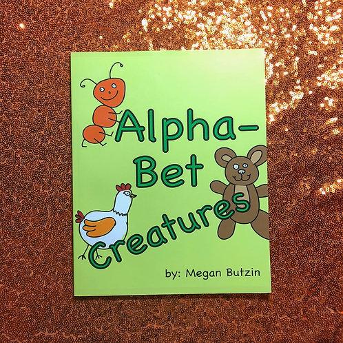 Alpha-Bet Creatures Coloring Book