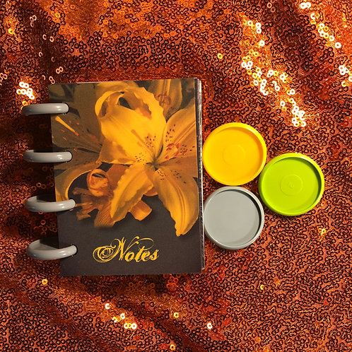 Yellow Lily Lined Notebook