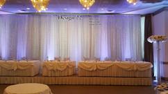 DRAPERY FOR CEREMONY and HEAD tableWedding Backdrop & Drapery for Ceremony and Head Table