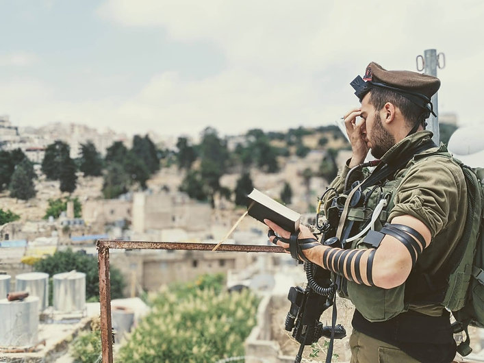 IDF Soldier with Tefillin