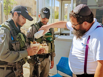 Chabad Rabbi Falafel for IDF
