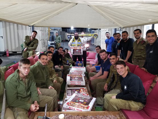 Pizza for a platoon