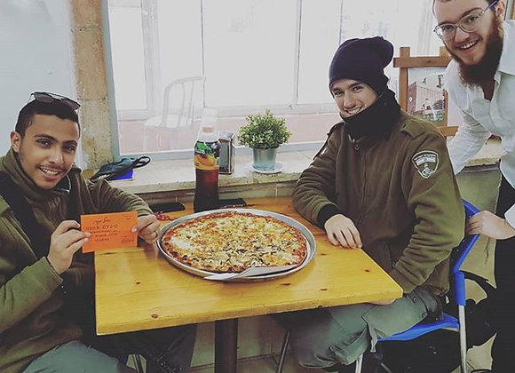 Pizza Pie & Drinks For IDF Soldiers