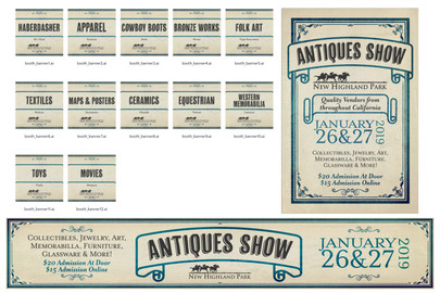 Banners for Antiques Show