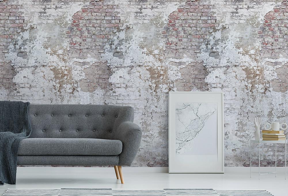 Тапет с оголена тухла / Exposed brick wallpaper