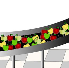 Conveyor Belt of Apples
